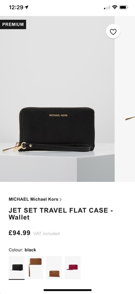 Michael Kors black wallet/wristlet
