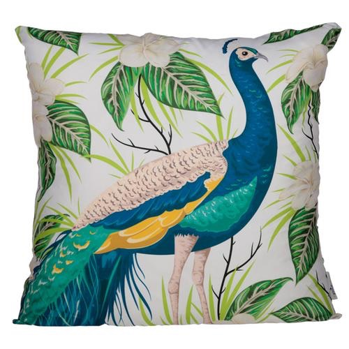 Cushion with insert- peacock design 50 x 50cm