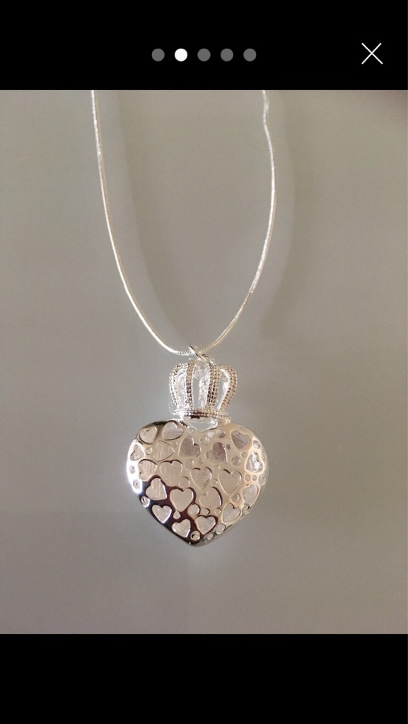 New 925 silver crown necklace