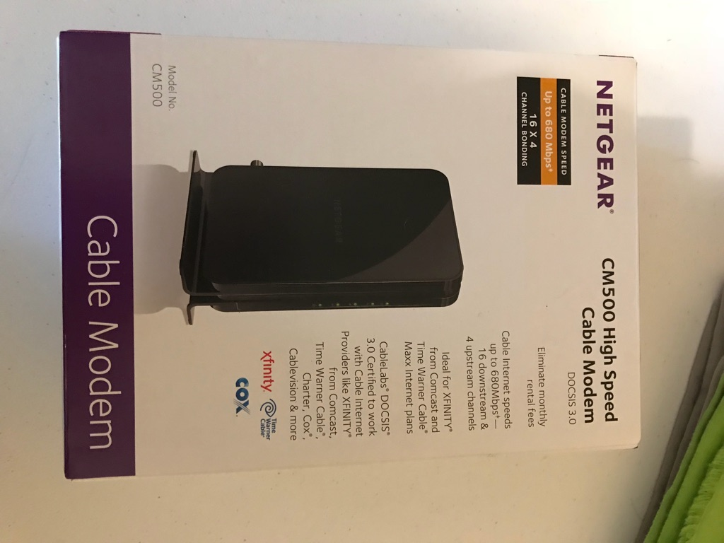 Netgear CM500 High Speed Cable Modem