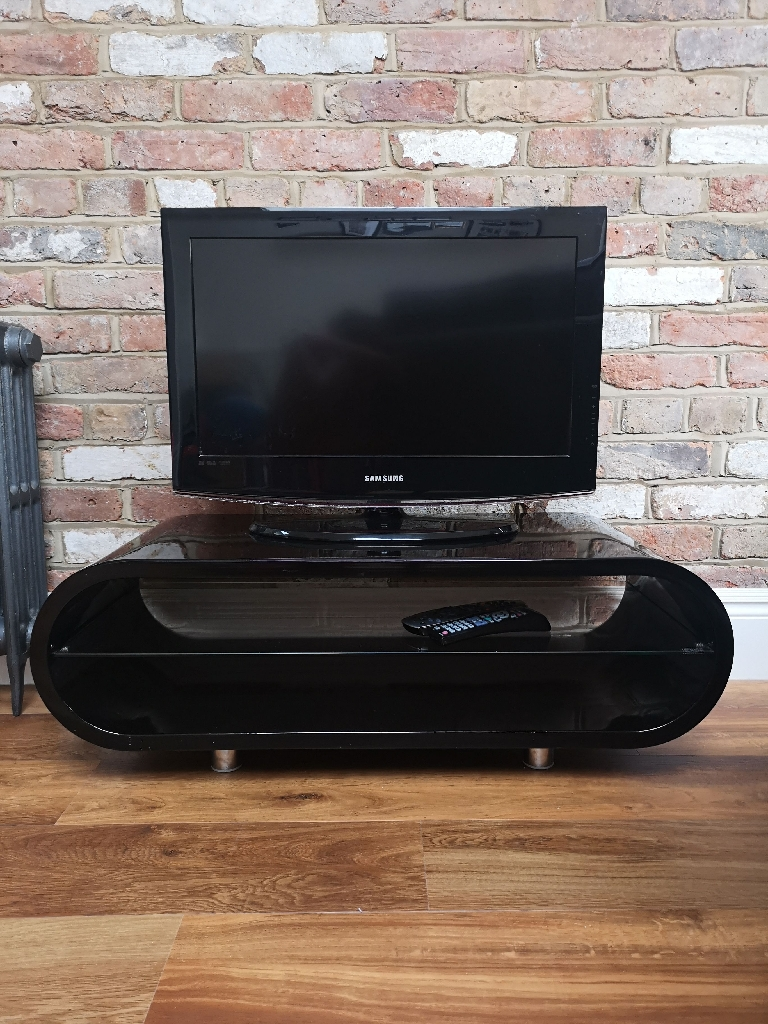Modern TV unit - high gloss black