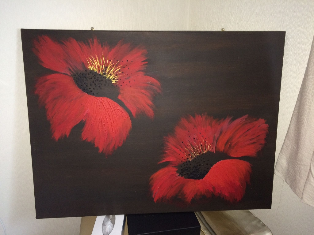 Original Oil Painting - Poppies