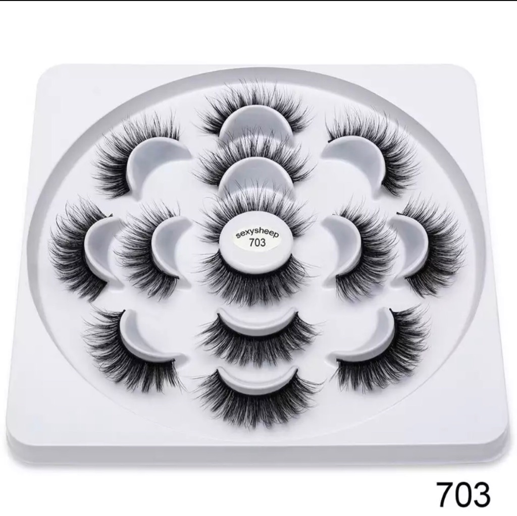 7 Pair 3D Faux Mink Eyelashes