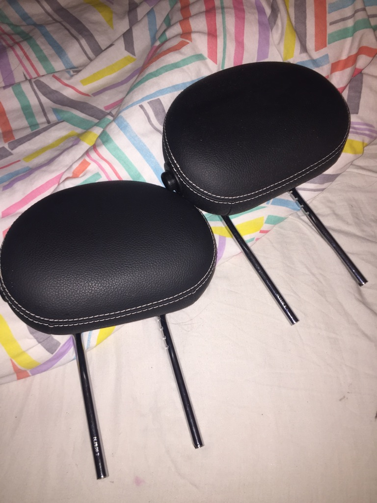 Pair of Mercedes headrests