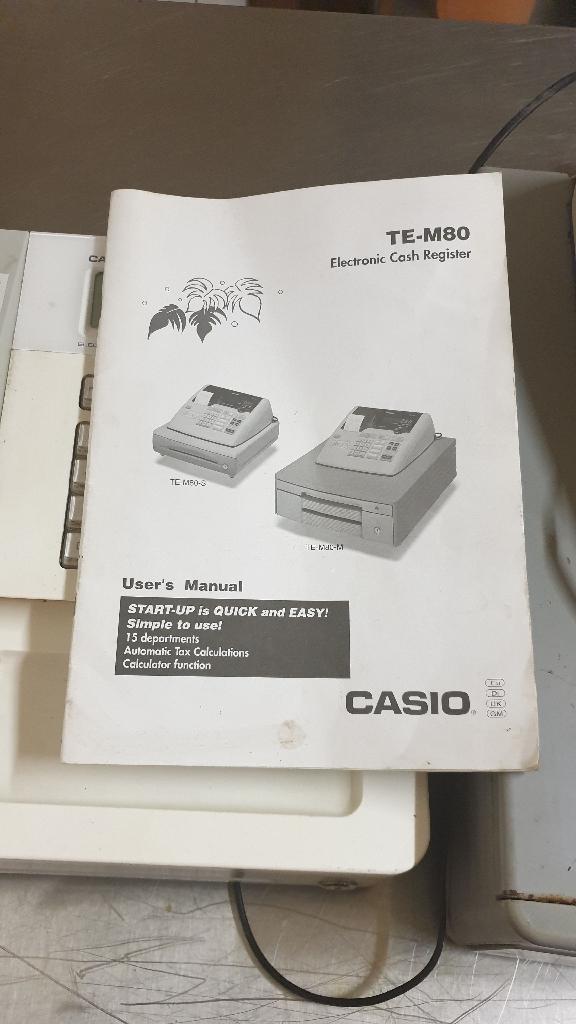 2 casio electronic tills