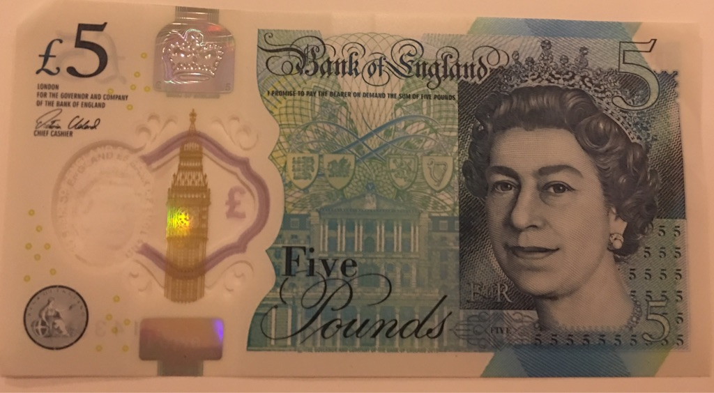 New £5 Note first edition