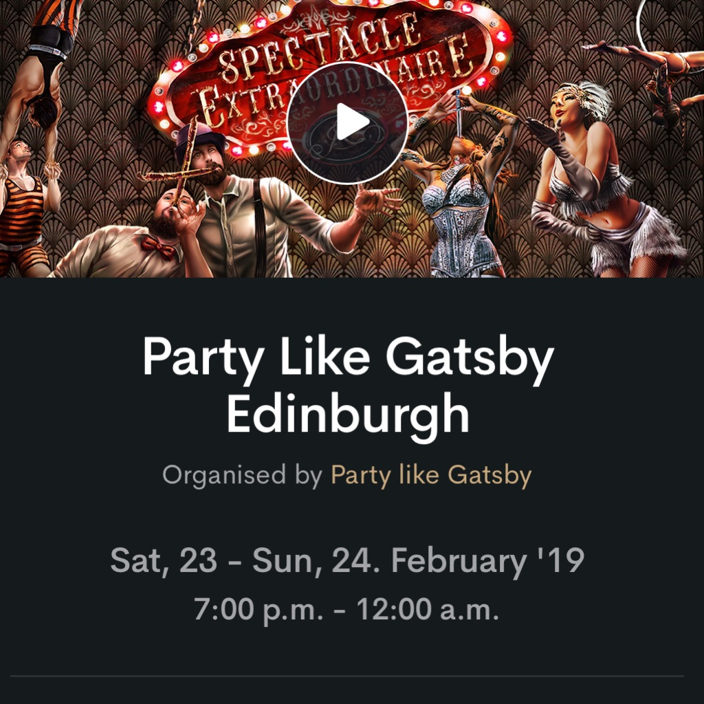 Party like Gatsby Tickets 23rd Feb