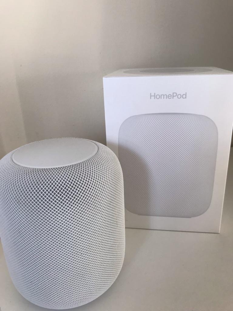 HomePod Apple speaker white