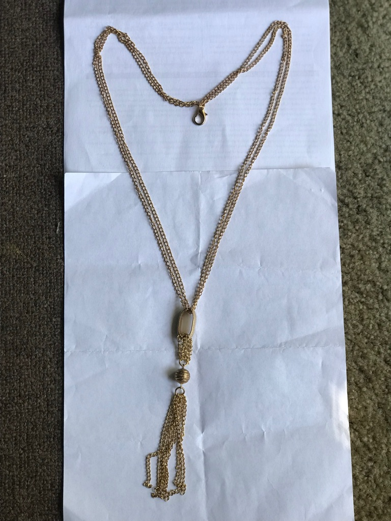 Gold color long chain 20 inches -party wear