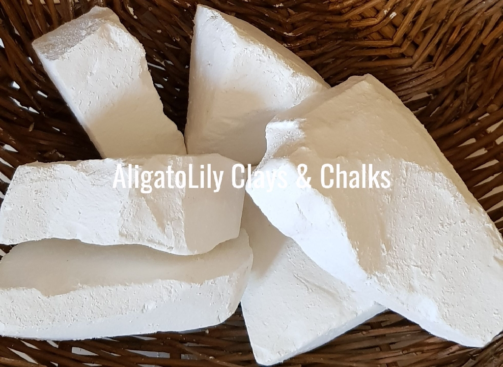 Natural edible clays and chalks 100% Pure