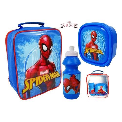 Spiderman lunch bag set 3 piece
