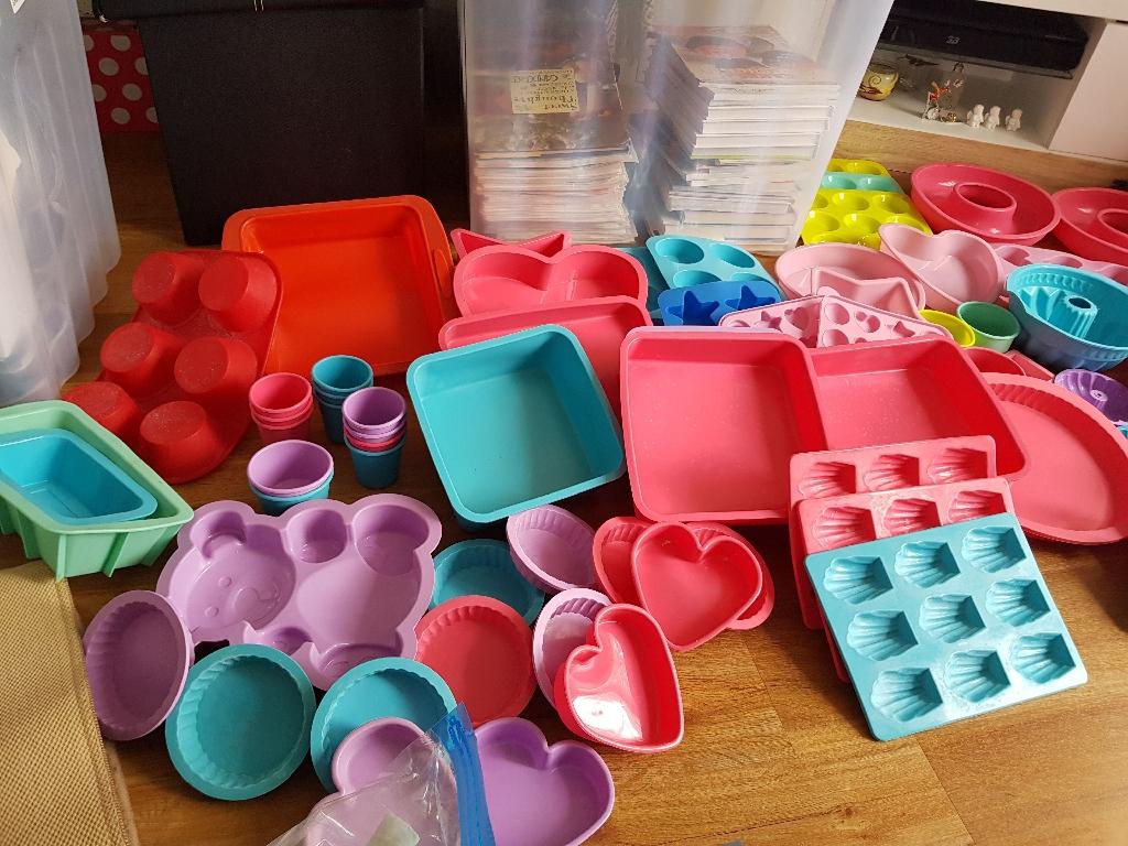 Massive silicone bakeware collection