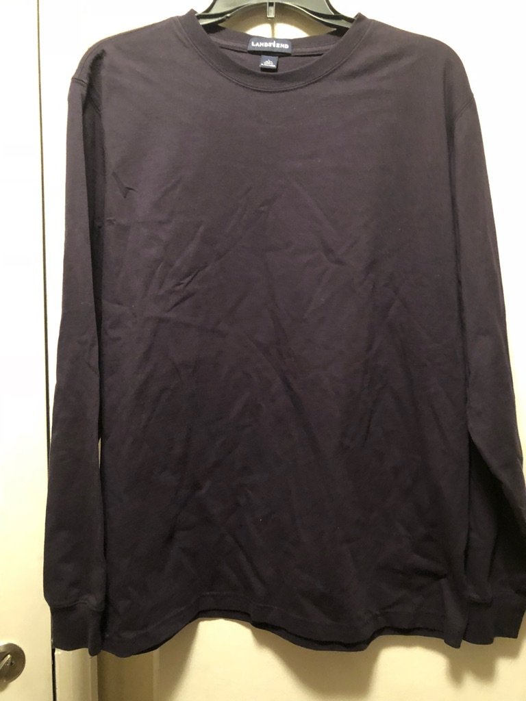 Long sleeve black lands end shirt