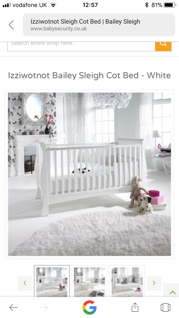 Izziwotnot Sleigh Cotbed