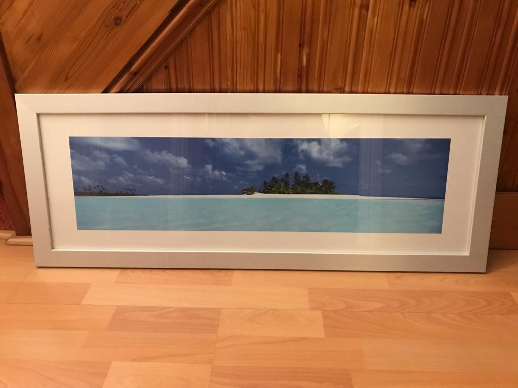 Island Beach Picture & Frame
