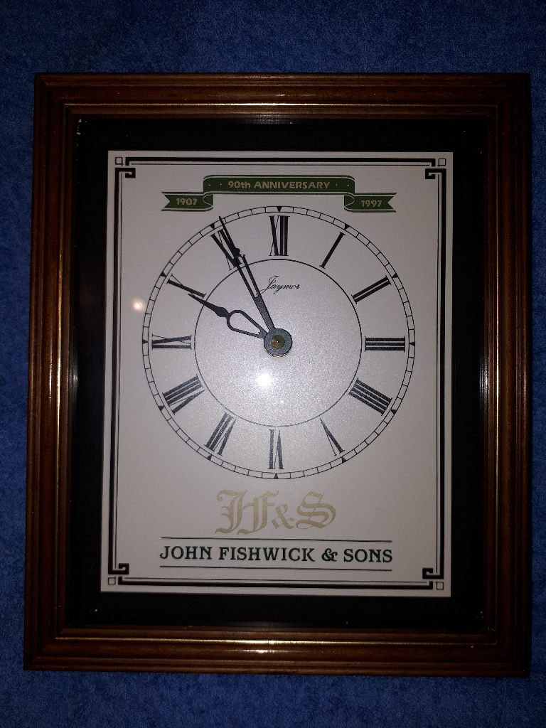 JF&S 90th Anniversary clock ( bus collecters)