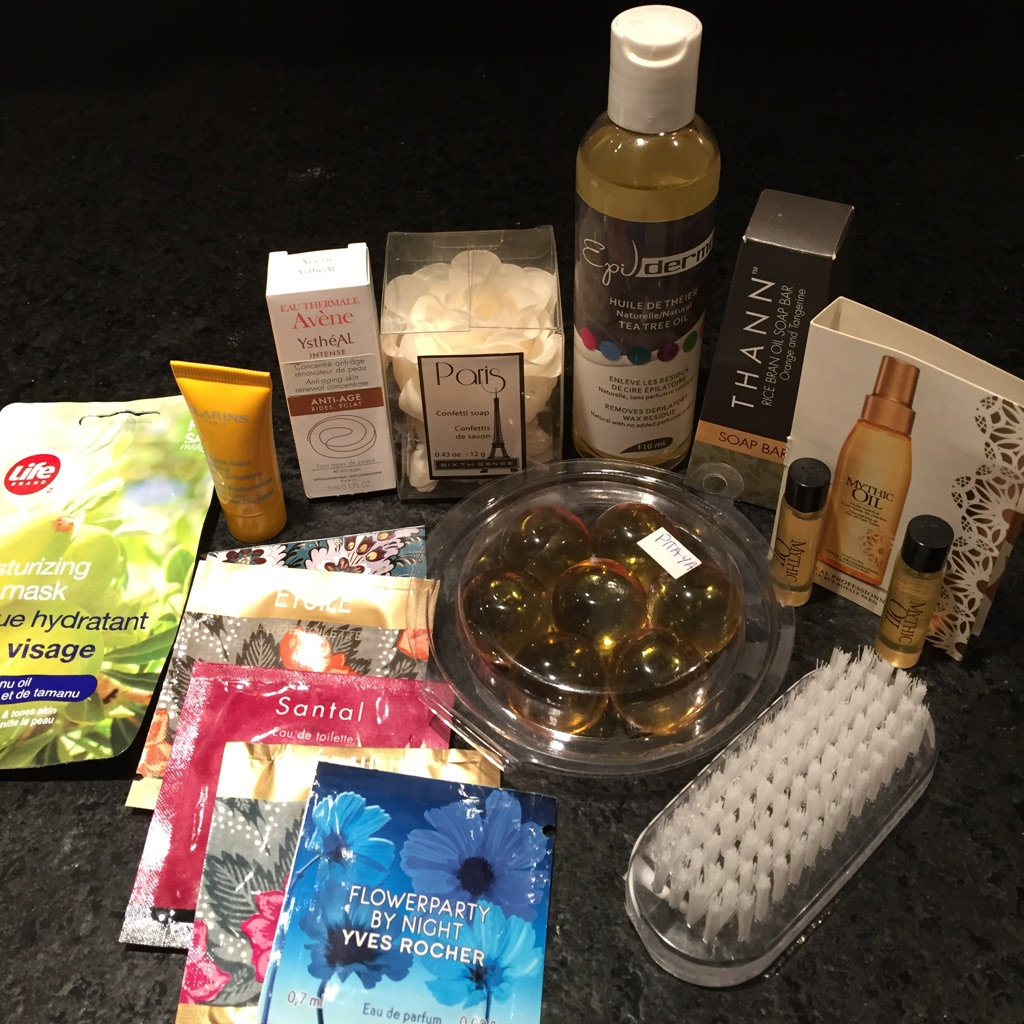 Deluxe beauty products package