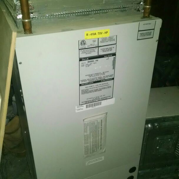 Hot water air handler , first company