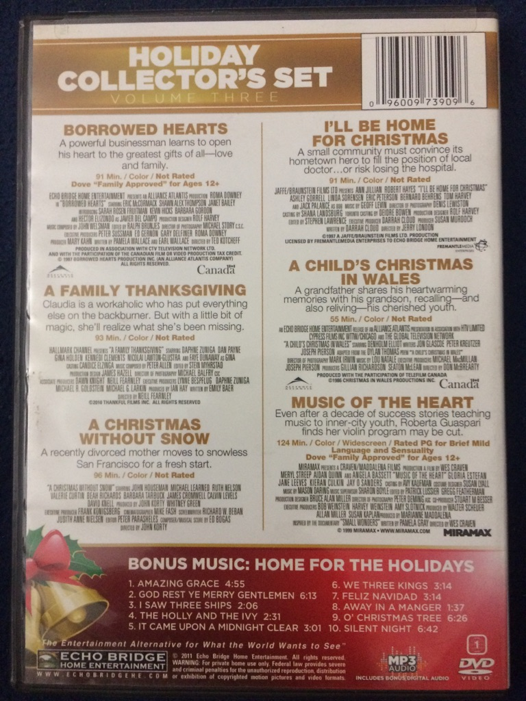 Six Christmas Movies DVD