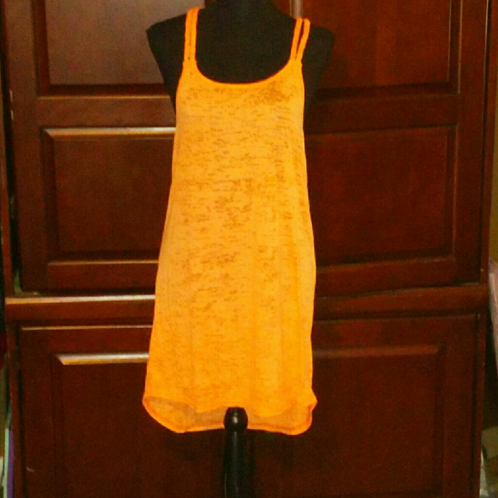 Orange Swimsuit Cover-Up