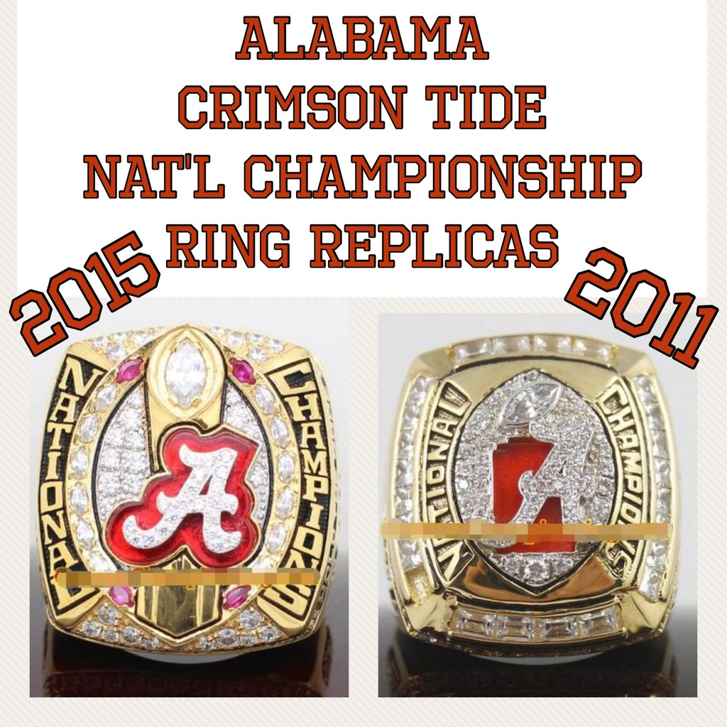Alabama Crimson Tide National Championship Ring Replicas