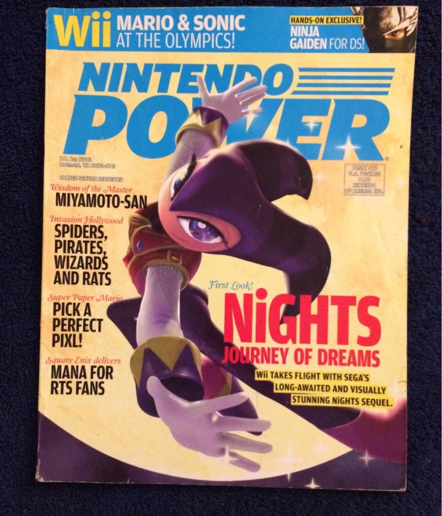 Nintendo Power Magazine Nights Journey of Dreams ⚜️🦹🏻♀️🎮🗞