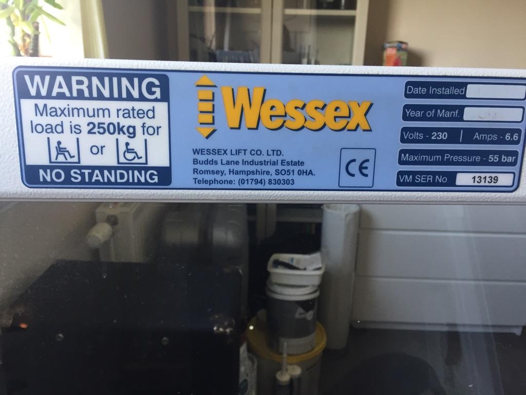 disabled life Wessex VM36 Through Floor Wheelchair Lift