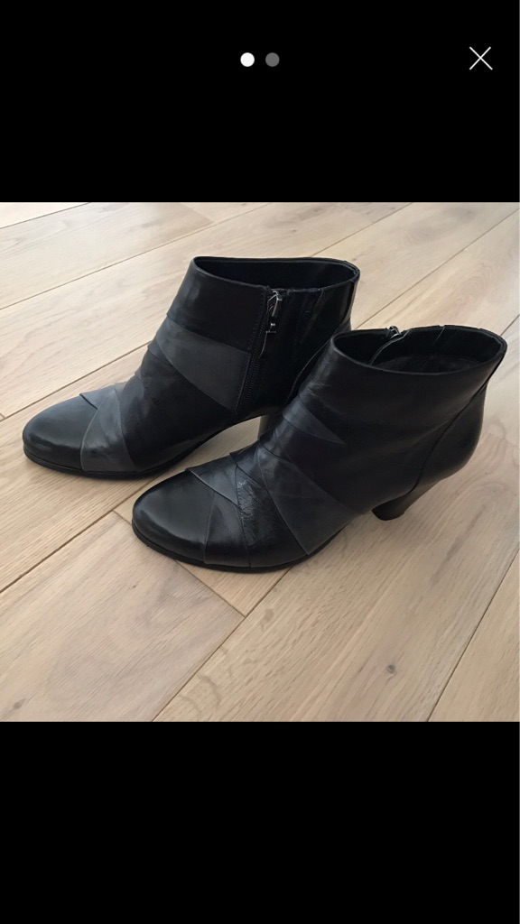 Real leather ankle boots