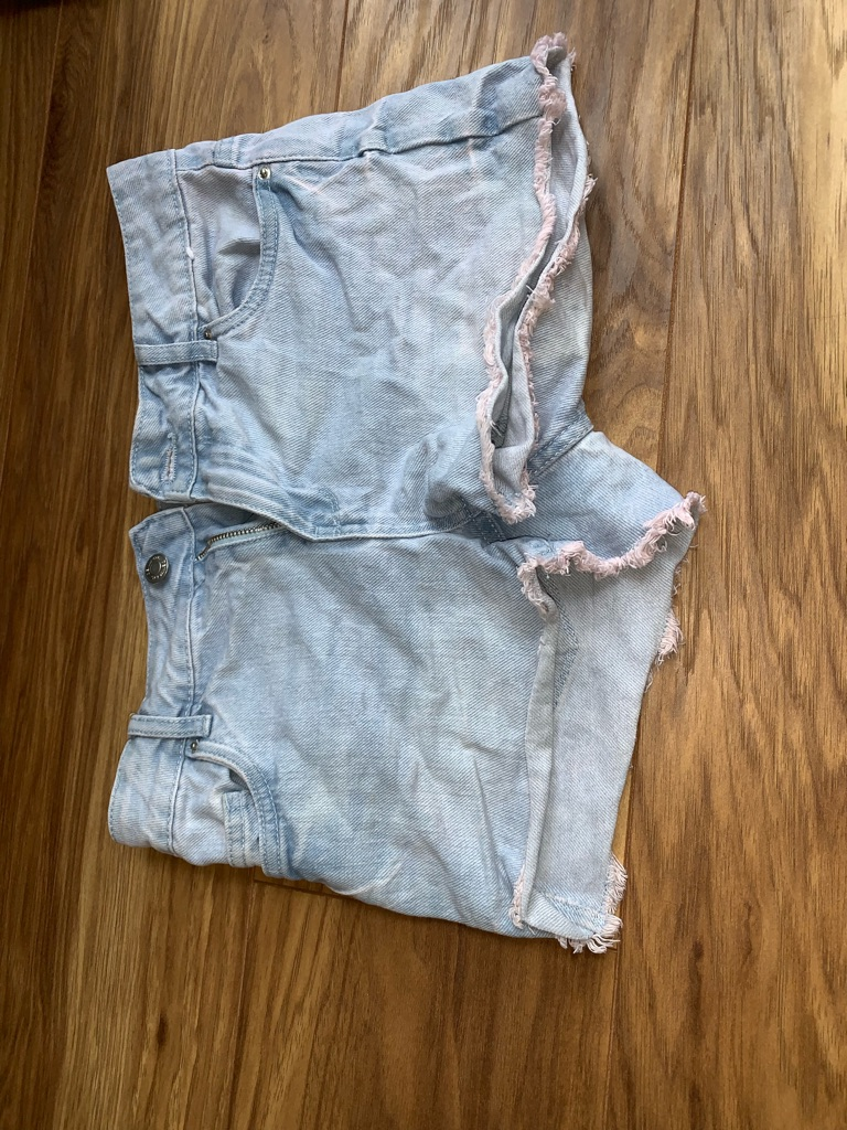 Light blue denim shorts (size 6)