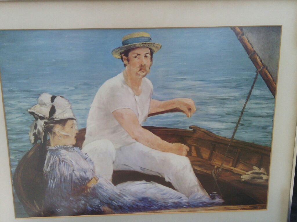 Man in Boat Art