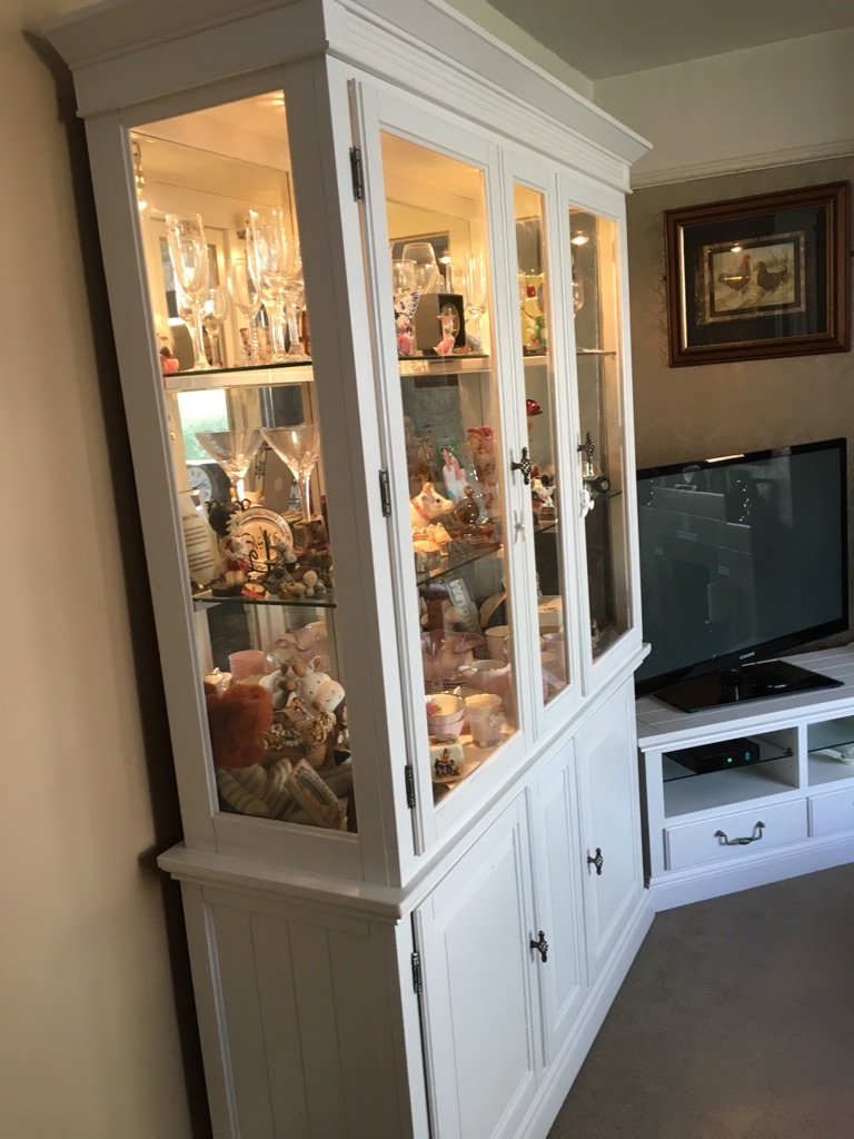 Light up cabinet and matching tv cabinet