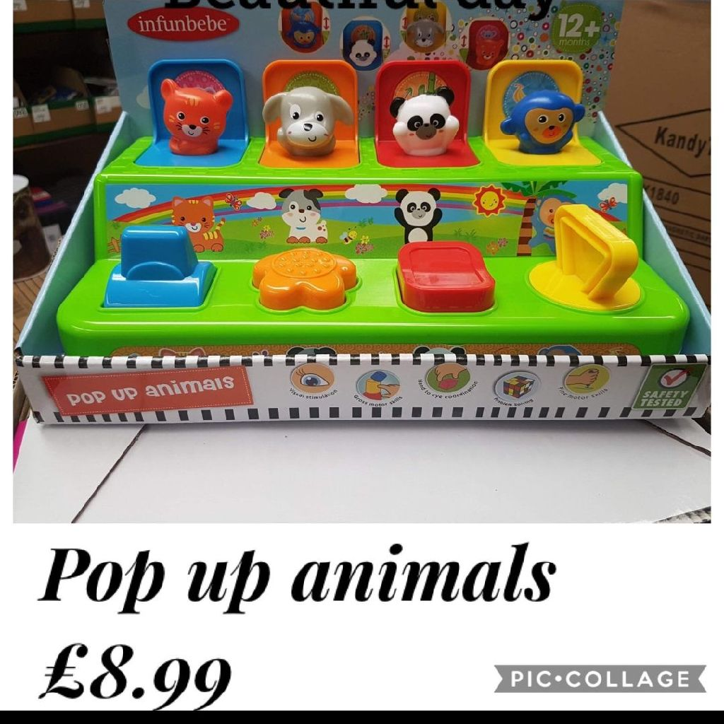 Pop up animals toys