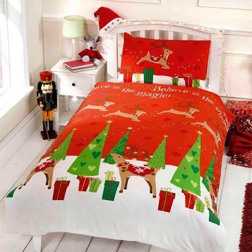 """Children's Christmas """"Believe In Magic"""" Bedding"""