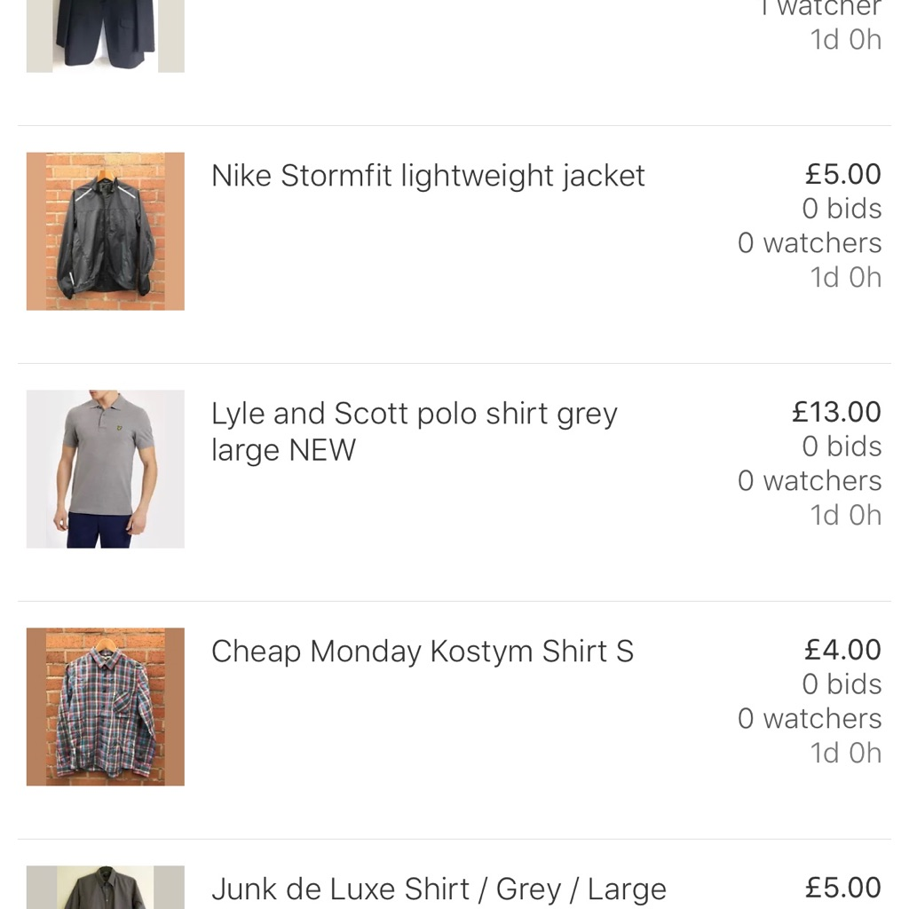 Multiple designer clothing items for sale
