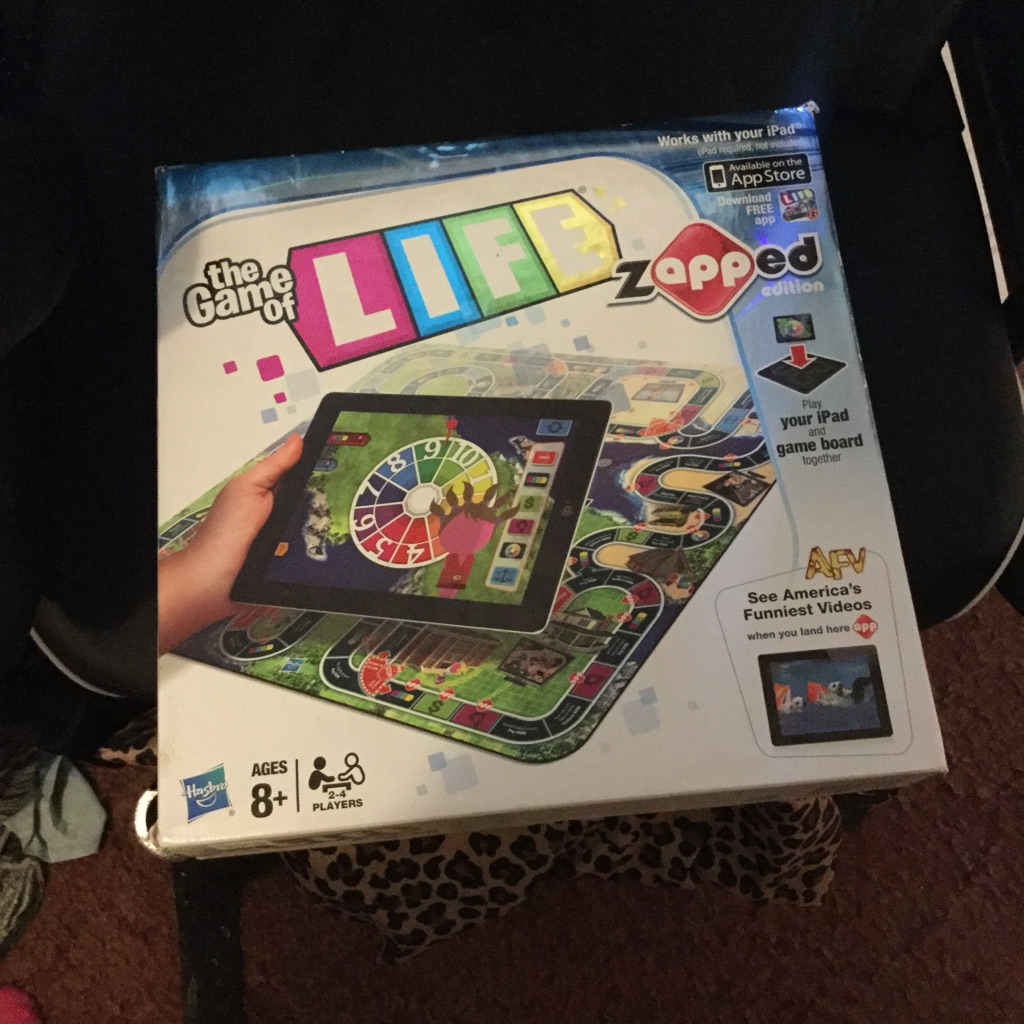 Brand new The game of life zapped edition for the iPad $45 or best offer