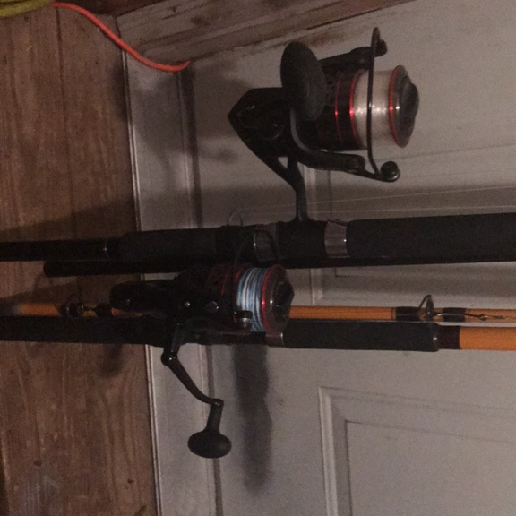 12' Big water Ugly Stick and 11' DAWA both with Fierce II Penn reels