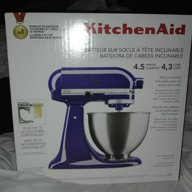 Kitchen aid mixer blue