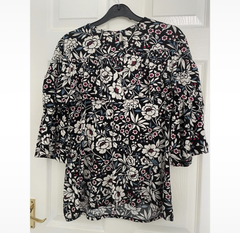 Frilly floral top