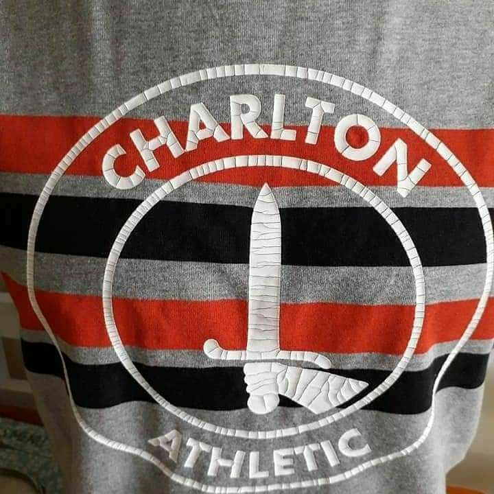 Men's Charlton Athletic Official Football Club Crackle Print Tee Shirt RRP£20