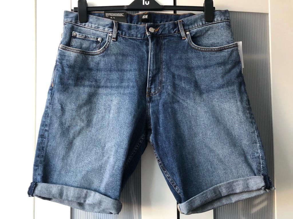 H&M - Men's Slim Fit Denim Shorts (Size 36)