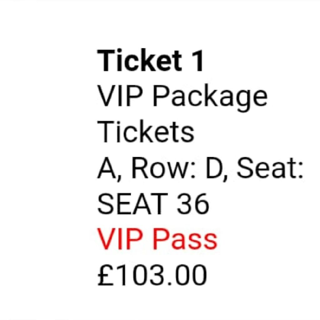 Westlife VIP Block A Row D Newcastle 1st June
