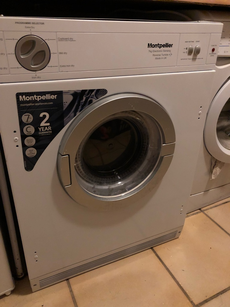 Montpellier front loading electric tumble dryer