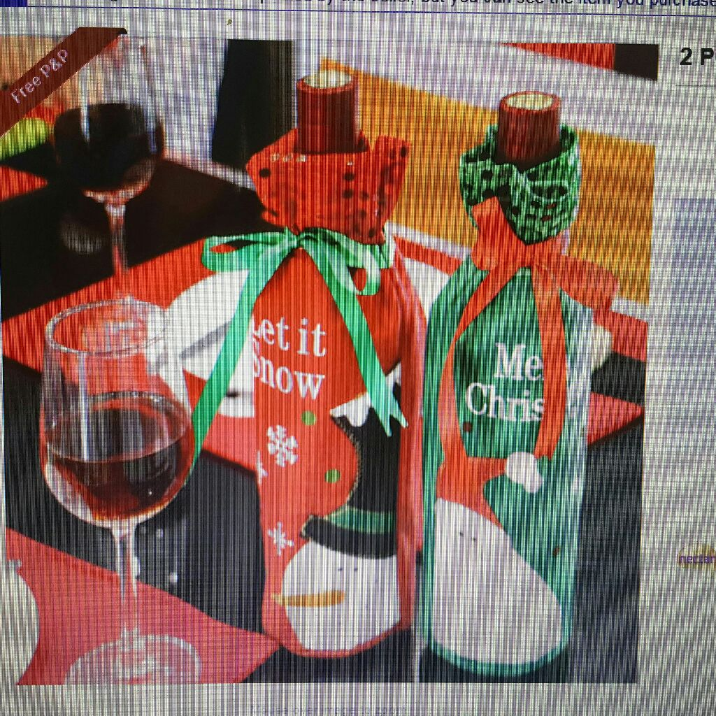 Christmas Wine Bottle Bags Covers