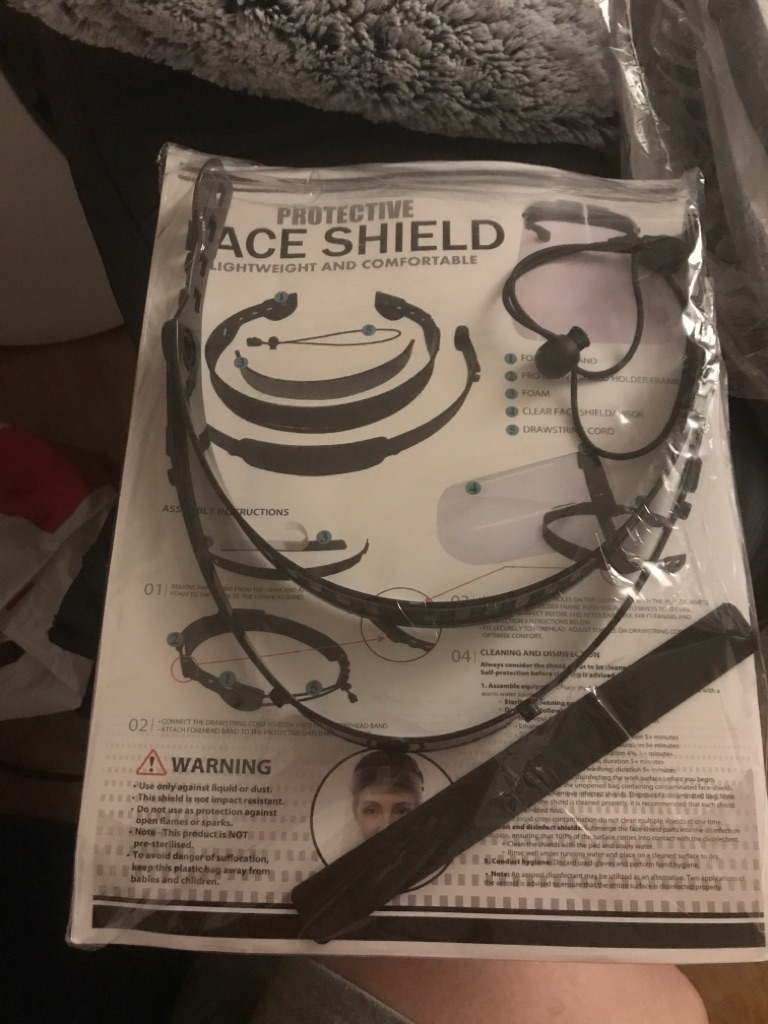 Brand new face shield
