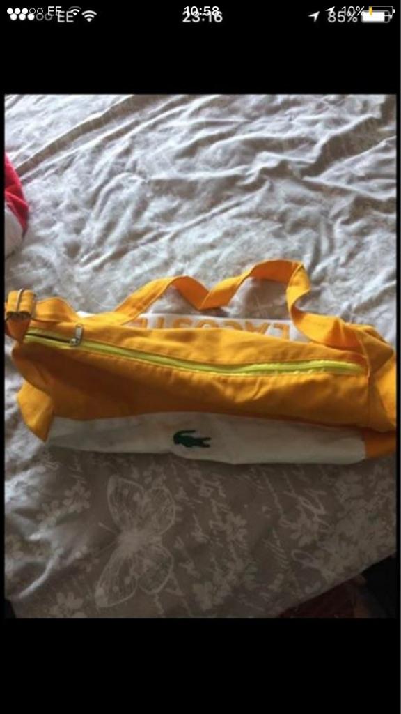 Lacoste gym Bag travel Bag School Bag