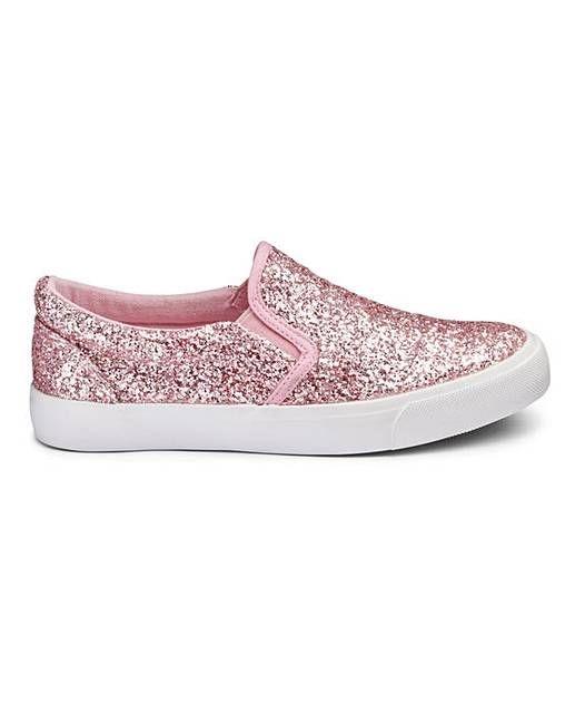 Pink glitter slip-on pumps - BRAND NEW