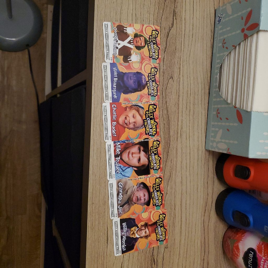 Willy wonka cards