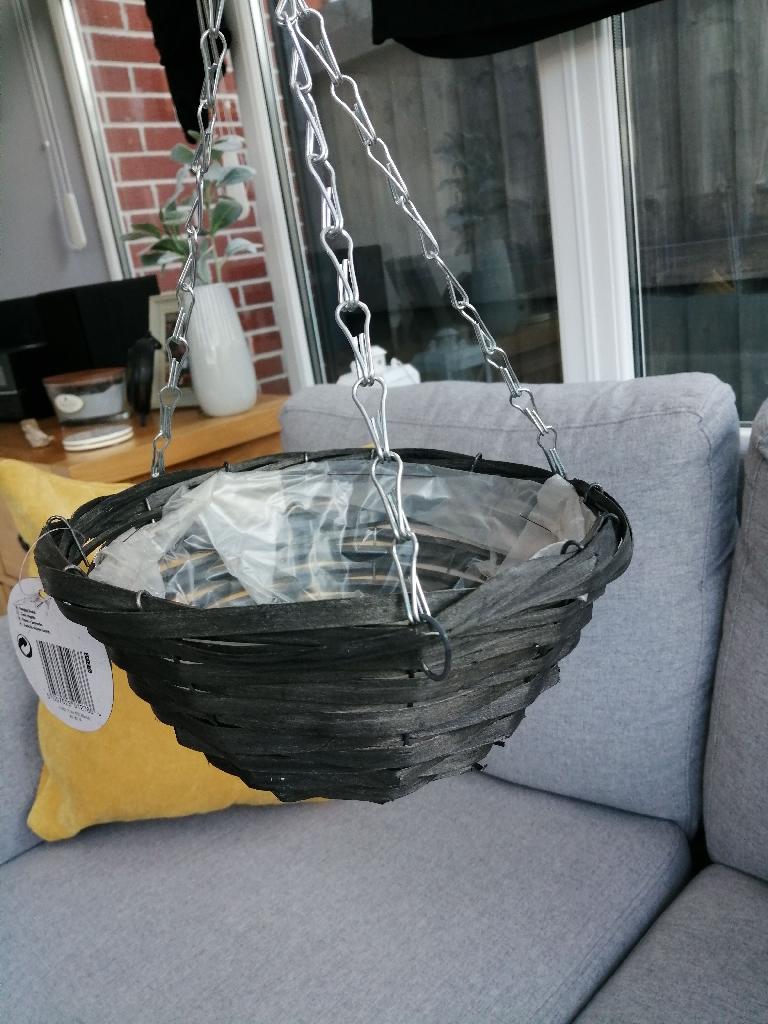 Grey Hanging Basket Brand New