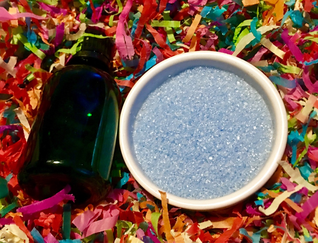 Blueberry muffin scented bath salts
