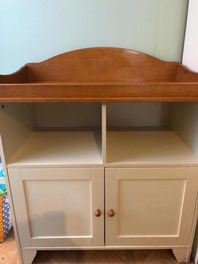 Kiddicare Little Acorns nursery wardrobe and changer/dresser